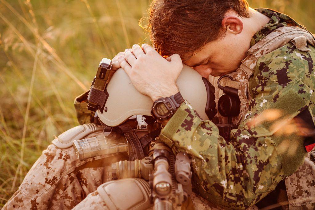 veteran with ptsd